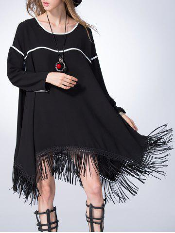 Outfit Asymmetric Fringed Swing Dress