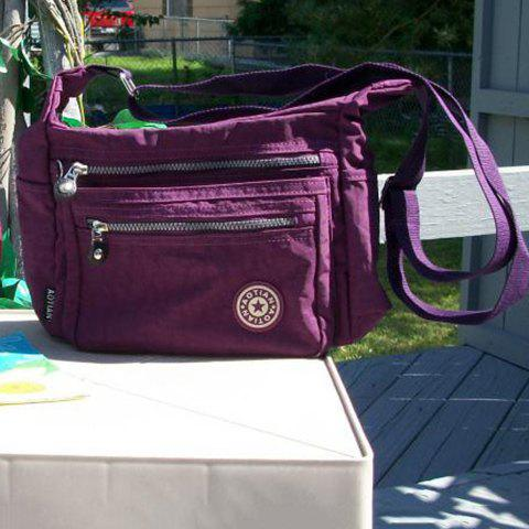 New Casual Zippers Nylon Crossbody Bag