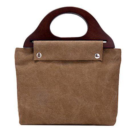 Outfit Zip Closure Canvas Tote Bag