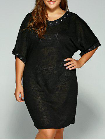 Chic Casual Hollow Circle Plus Size Dress