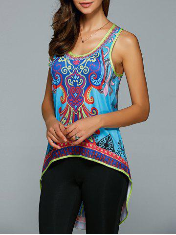 Shop Tribal Printed High Low Tank Top