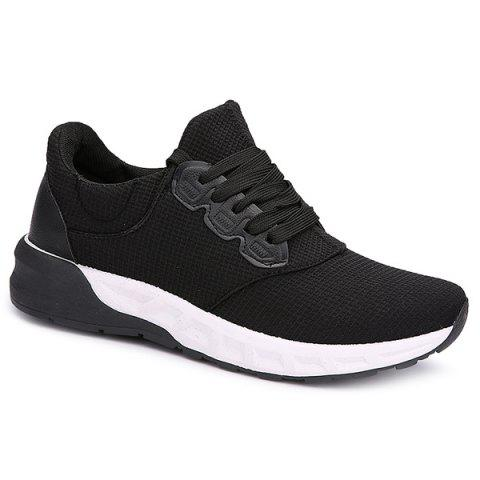Outfit Mesh Tie Up Athletic Shoes - 41 BLACK Mobile
