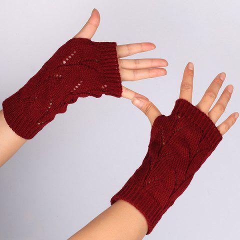 Shops Branch Pattern Crochet Hand Fingerless Gloves