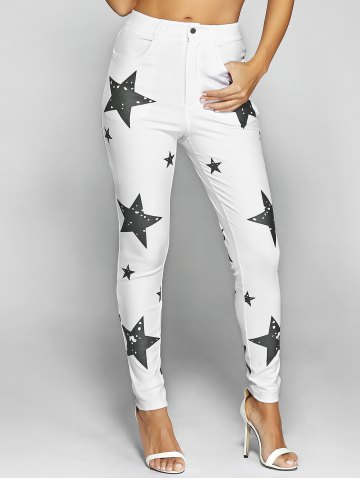 Outfits Pentagram Print Slimming Pencil Jeans