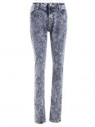 Snow Wash Skinny Jeans - COLORMIX