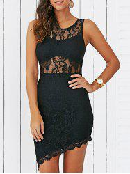 Asymmetrical Lace Bodycon Dress -