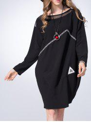 Mini Voile Panel Oversized Dress