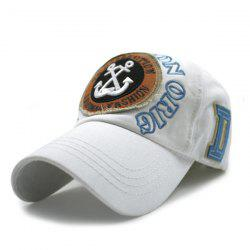 Hip Hop Boat Anchors and Letters Embroidery Baseball Hat