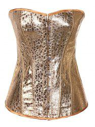 Strapless Sheeny Lace-Up Corset -