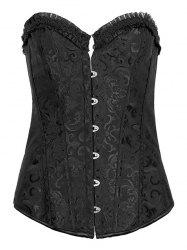 Jacquard Lace-Up Pleated Corset