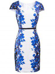 Floral Print Furcal Slimming Dress -