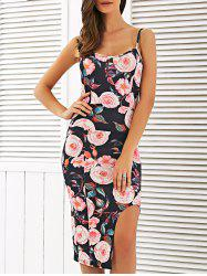 Floral Sleeveless Backless Pencil Dress