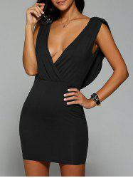 Open Back Surplice Dress -