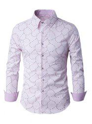Slim-Fit Long Sleeve Abstract Pattern Shirt