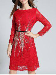 Long Sleeve Midi Lace Dess