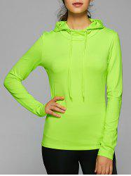 Hooded Drawstring Running Gym T-Shirt
