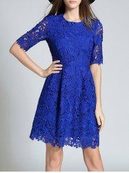 Round Neck Half Sleeve Full Lace Dress