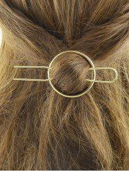Alloy Round Hair Accessory - GOLDEN