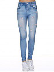 Star Spliced Leggings Pants
