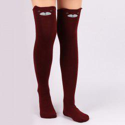 Cartoon Little Bear Thicken Winter Leg Warmer - DEEP RED