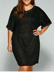 Casual Hollow Circle Plus Size Dress -