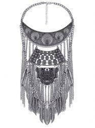 Personality Feather Tassel Fake Collar Necklace -