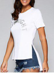 Short Sleeve High Low Hem T-Shirt