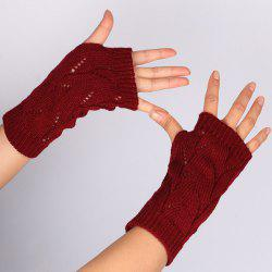 Branch Pattern Crochet Hand Fingerless Gloves -