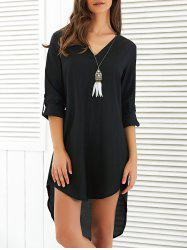 Asymmetrical V Neck Casual Going Out Dress