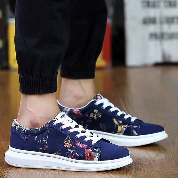 Buy Suede Spliced Print Casual Shoes