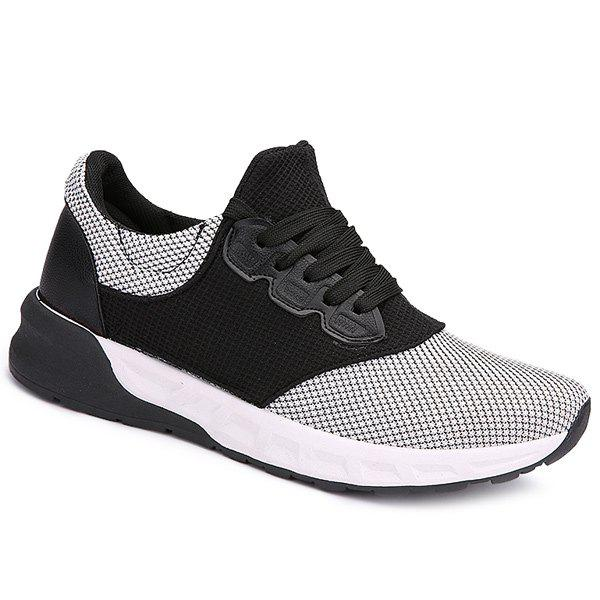 Cheap Mesh Tie Up Athletic Shoes