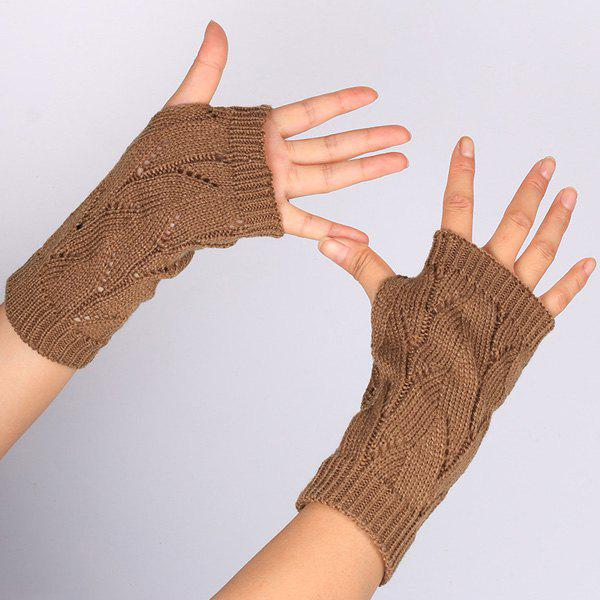 Chic Branch Pattern Crochet Hand Fingerless Gloves