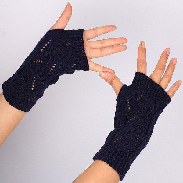 Affordable Branch Pattern Crochet Hand Fingerless Gloves