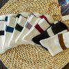 7 Pairs of Casual Stripe Pattern Soft Sport Socks - COLORMIX