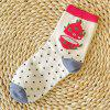 7 Pairs of Casual Cartoon Fruit Pattern Soft Sport Socks - COLORMIX
