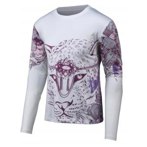 Floral 3D Print Round Neck Long Sleeve T-Shirt