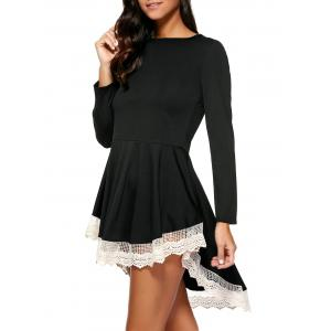 Layered Lace Splicing Dress