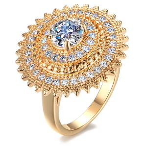 Faux Zircon Sun Ring