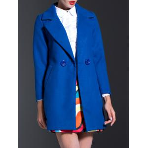 Lapel Slim Coat With Pockets