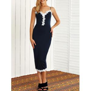 Skinny Lacework Slit Bodycon Dress
