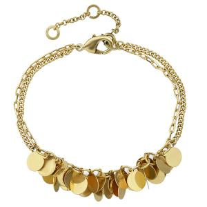 Alloy Layered Sequins Chain Bracelet