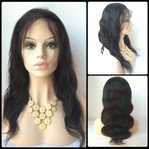 Faddish Long Side Bang Body Wave Lace Front Real Natural Hair Wig