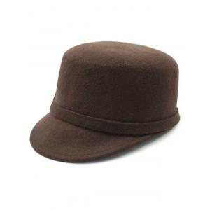 Keep Warm Wool Bowknot Flat Top Equestrian Hat