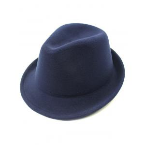 Flanging Faux Wool Fedora Hat