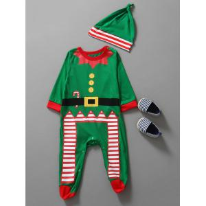 Christmas Clothes Kids Jumpsuit - Green - 80