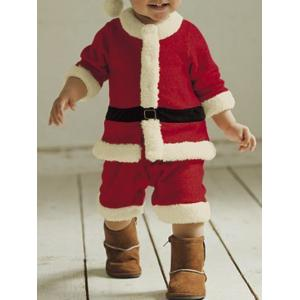 Christmas Jumpsuit + Christmas Hat - Red - 90