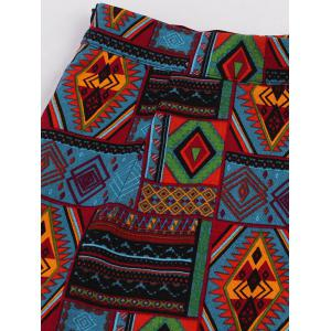 African Print A-Line Skirt - COLORMIX M