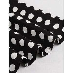 Retro Polka Dot Swing Fit and Flare Dress - BLACK S