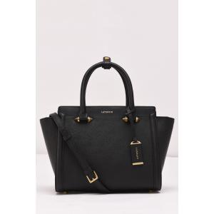 Leather Metal Winged Tote