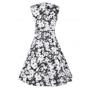 Sweetheart Neck Floral Bowknot Dress -